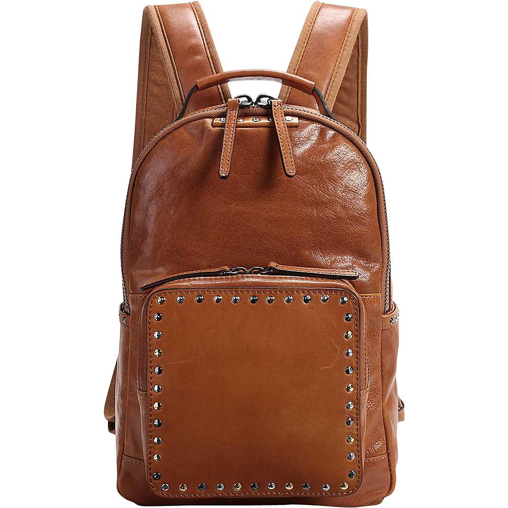 Old Trend Soul Stud Backpack Chestnut - Old Trend Leather Handbags