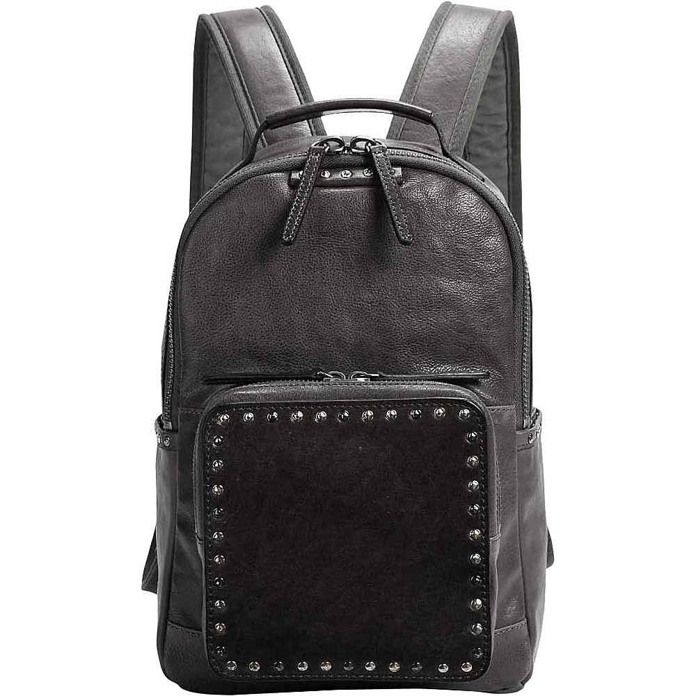 Old Trend Soul Stud Backpack Grey - Old Trend Leather Handbags