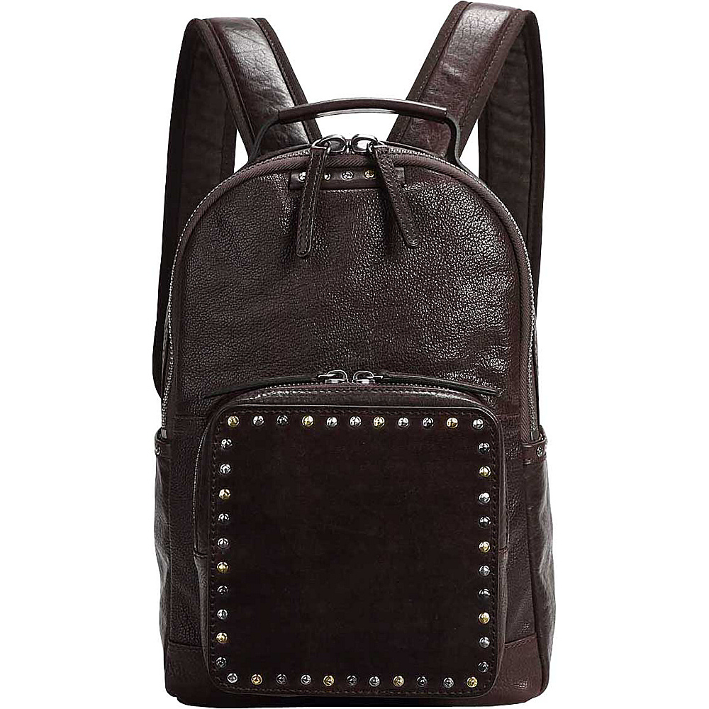 Old Trend Soul Stud Backpack Coffee - Old Trend Leather Handbags