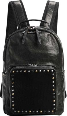 Old Trend Old Trend Soul Stud Backpack Black - Old Trend Leather Handbags