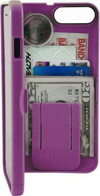 eyn case iPhone 7 Plus Storage Wallet Case Deep Purple - eyn case Electronic Cases