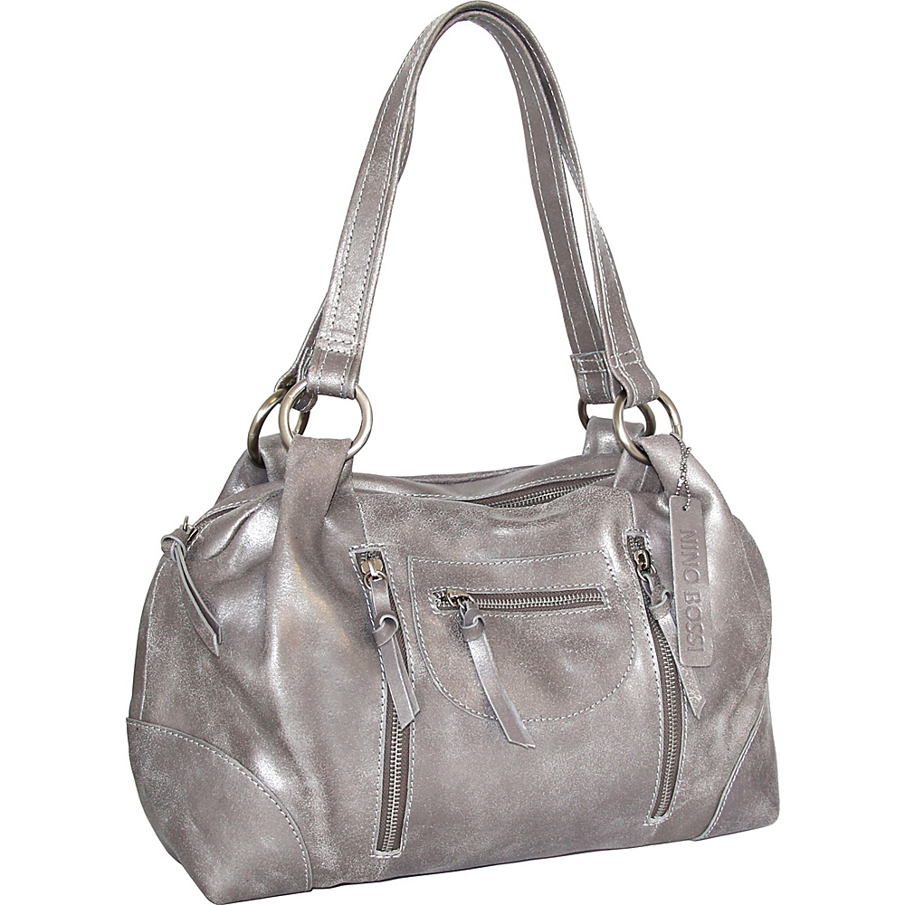 Nino Bossi Jess Satchel Pewter - Nino Bossi Leather Handbags - Handbags, Leather Handbags