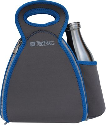 FlatBox DrinX Placemat Lunch Bag Dark Gray/Blue/Gray - FlatBox Travel Coolers