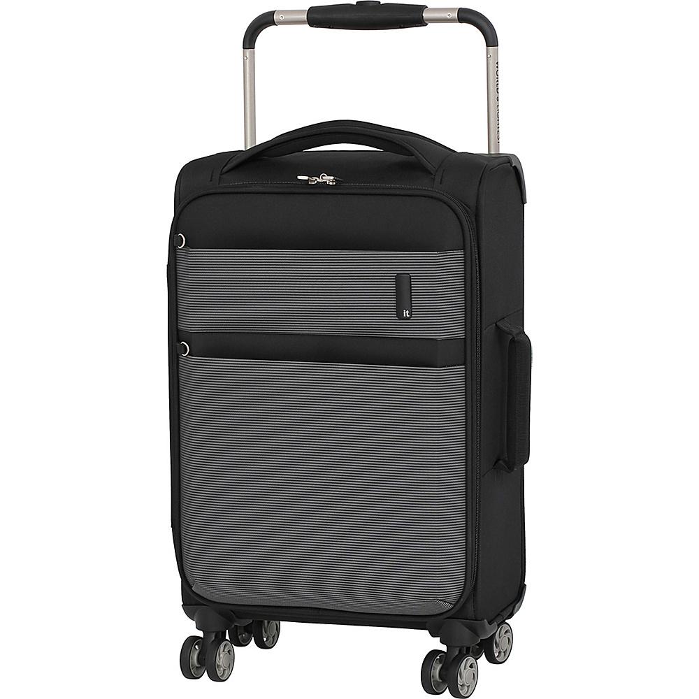 it luggage Debonair 21.5 Carry-On Spinner Luggage Black/White - it luggage Softside Carry-On