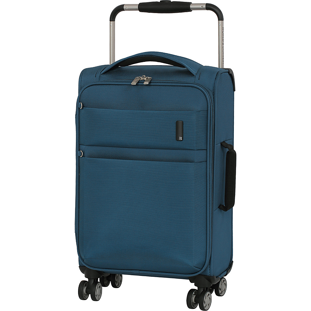 it luggage Debonair 21.5 Carry-On Spinner Luggage Two Tone Blue - it luggage Softside Carry-On
