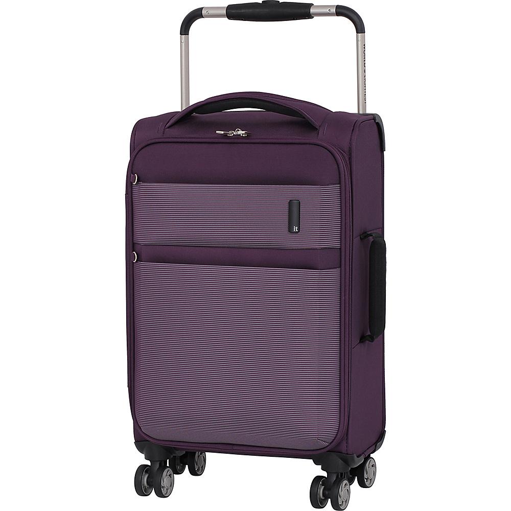 it luggage Debonair 21.5 Carry-On Spinner Luggage Purple/White - it luggage Softside Carry-On