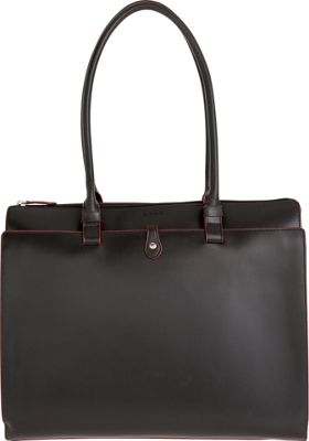 Lodis Audrey Jessica Work Satchel - Discontinued Colors Black/ Red - Lodis Leather Handbags
