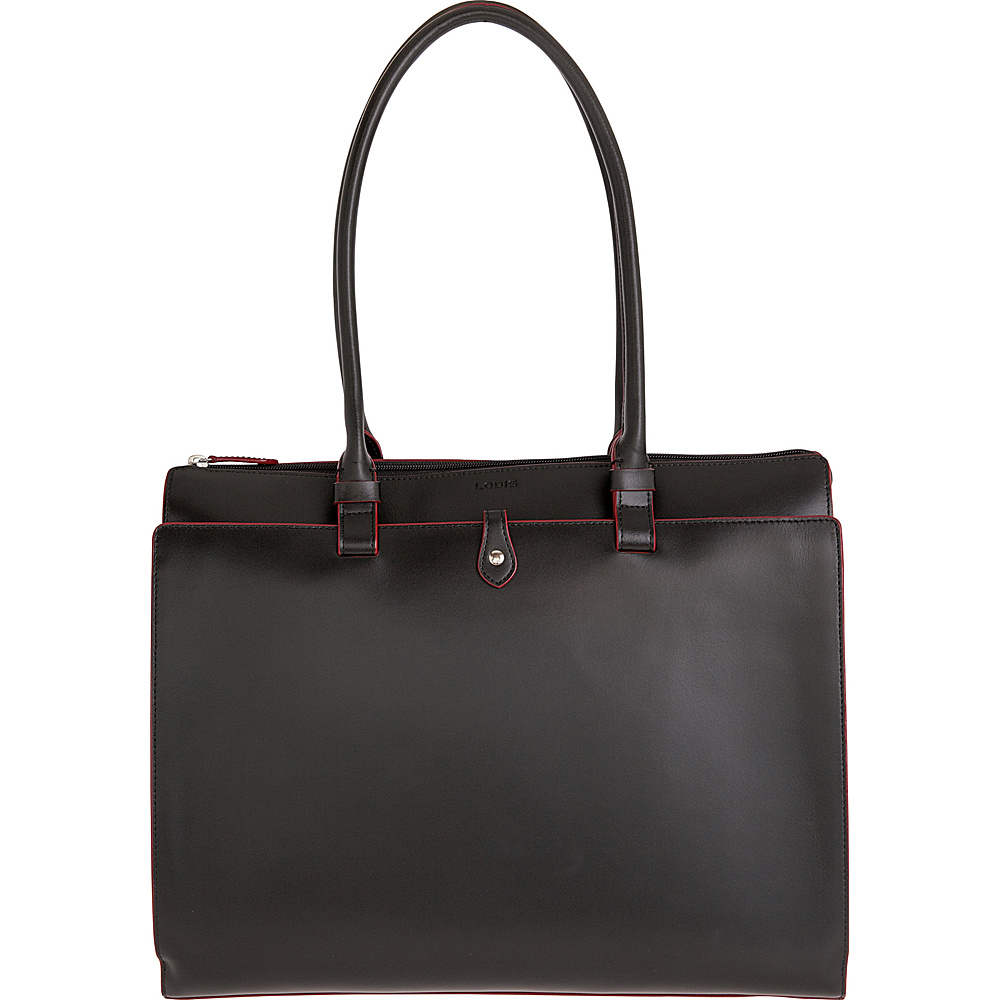 Lodis Audrey Jessica Work Satchel - Discontinued Colors Black/ Red - Lodis Leather Handbags - Handbags, Leather Handbags