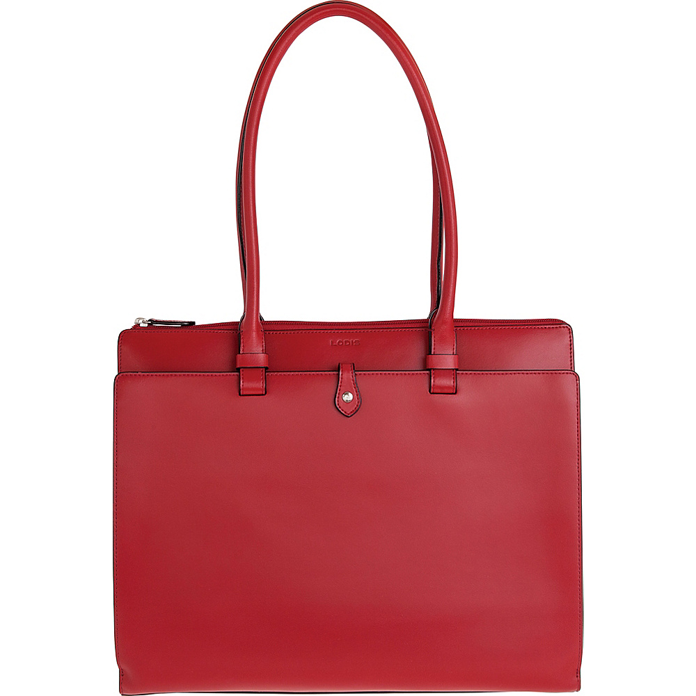 Lodis Audrey Jessica Work Satchel - Discontinued Colors Red - Lodis Leather Handbags - Handbags, Leather Handbags