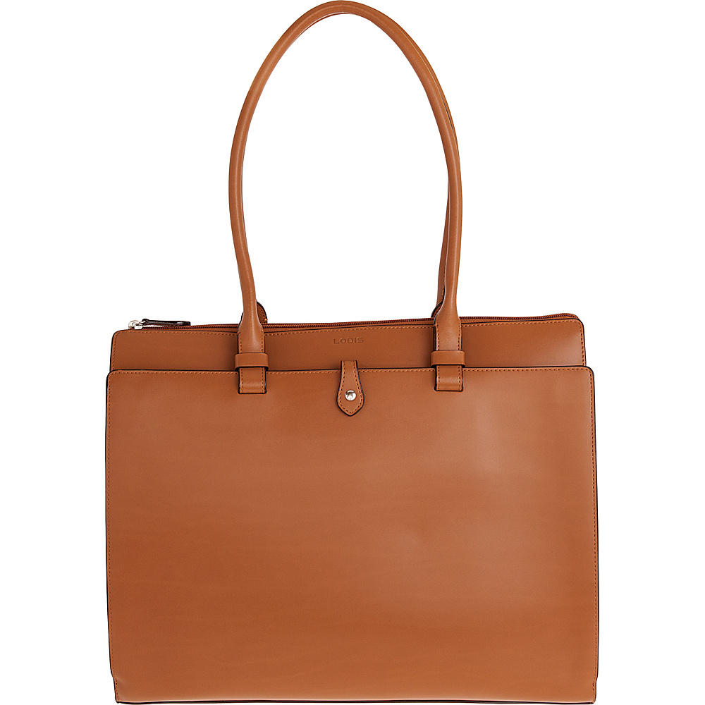 Lodis Audrey Jessica Work Satchel - Discontinued Colors Toffee/Chocolate - Lodis Leather Handbags - Handbags, Leather Handbags