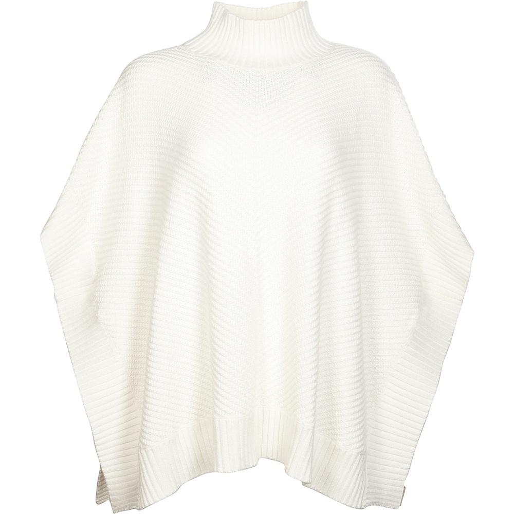 Kinross Cashmere Bias Stitch Poncho One Size  - Crème - Kinross Cashmere Womens Apparel - Apparel & Footwear, Women's Apparel