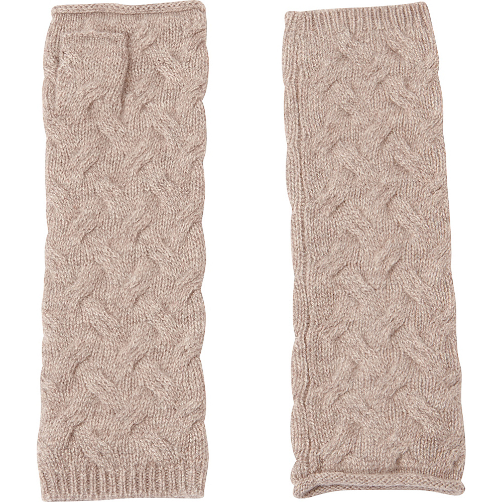 Kinross Cashmere Cable Texting Gloves One Size - Antler - Kinross Cashmere Hats/Gloves/Scarves - Fashion Accessories, Hats/Gloves/Scarves