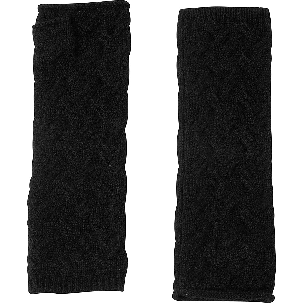 Kinross Cashmere Cable Texting Gloves One Size - Black - Kinross Cashmere Hats/Gloves/Scarves - Fashion Accessories, Hats/Gloves/Scarves