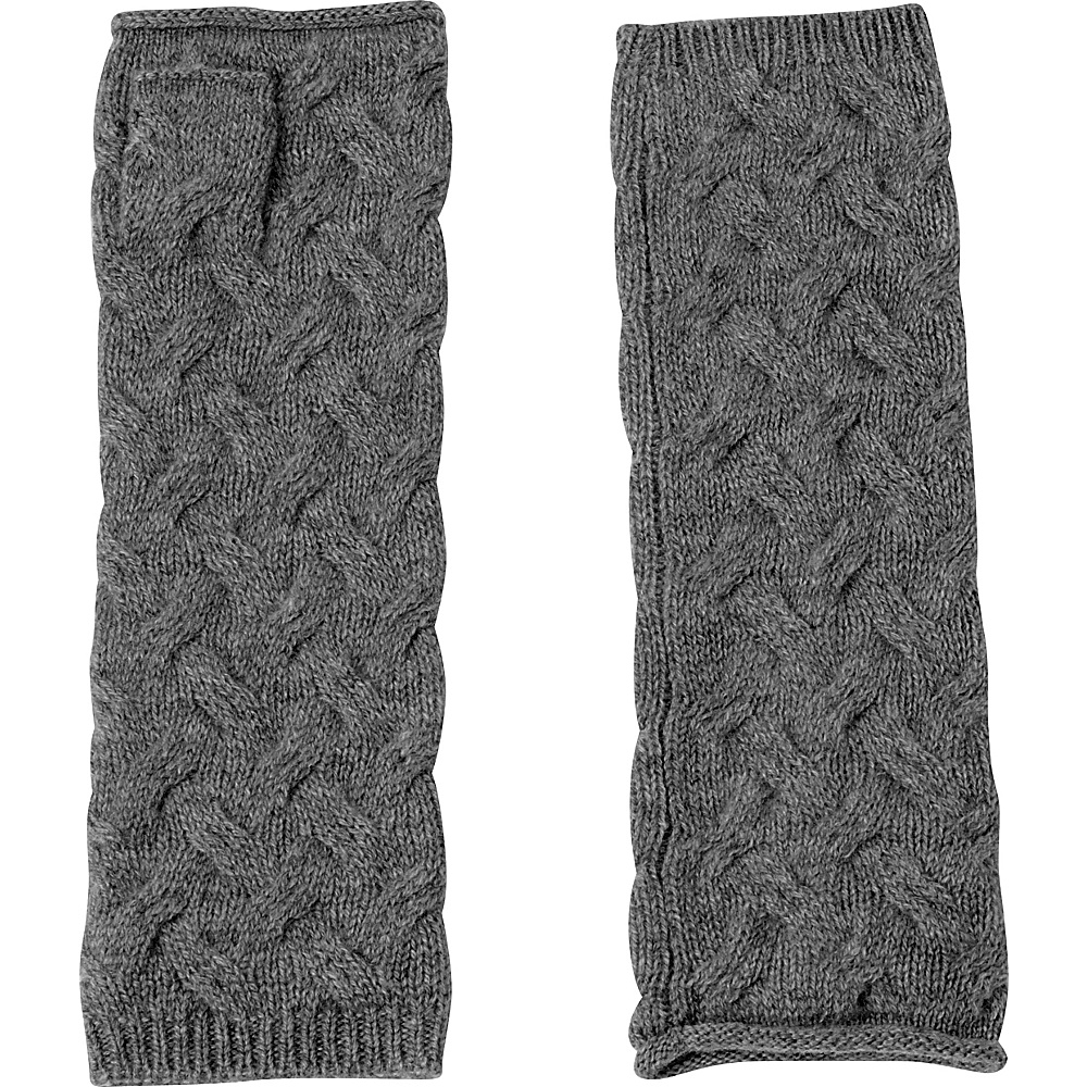 Kinross Cashmere Cable Texting Gloves One Size - Charcoal - Kinross Cashmere Hats/Gloves/Scarves - Fashion Accessories, Hats/Gloves/Scarves