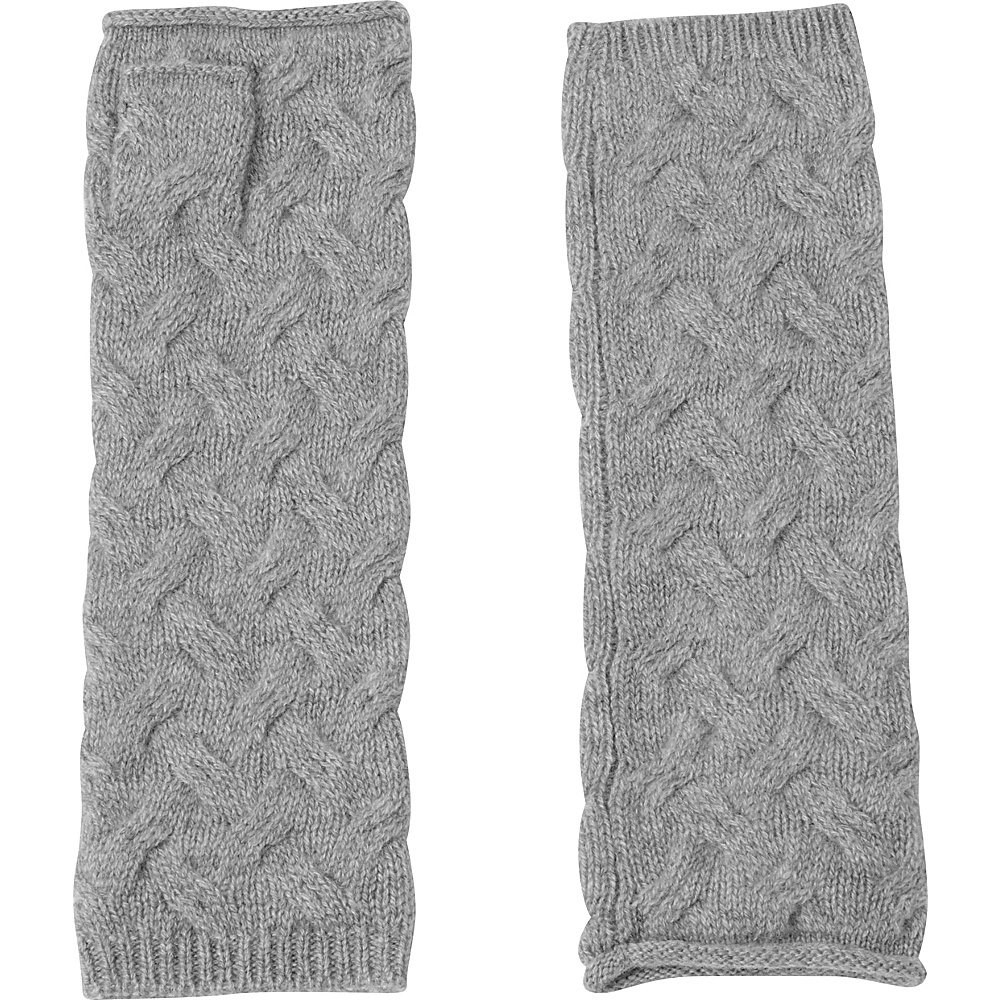 Kinross Cashmere Cable Texting Gloves One Size - Sterling - Kinross Cashmere Hats/Gloves/Scarves - Fashion Accessories, Hats/Gloves/Scarves