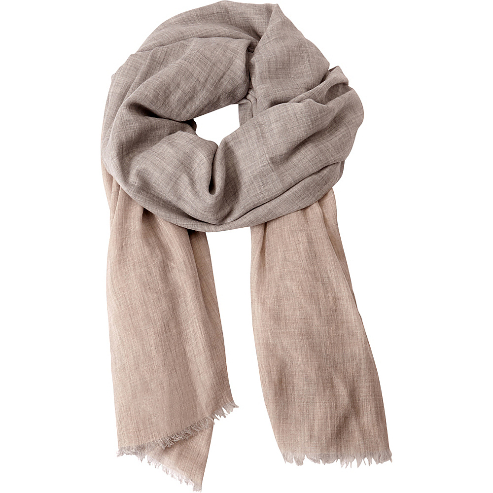 Kinross Cashmere Colorblock Scarf Fawn Multi - Kinross Cashmere Hats/Gloves/Scarves - Fashion Accessories, Hats/Gloves/Scarves
