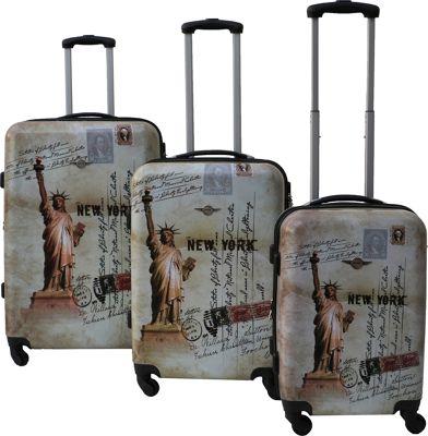 Rivolite Statue of Liberty 3 Piece Expandable Hardside Spinner Luggage Set Liberty - Rivolite Luggage Sets