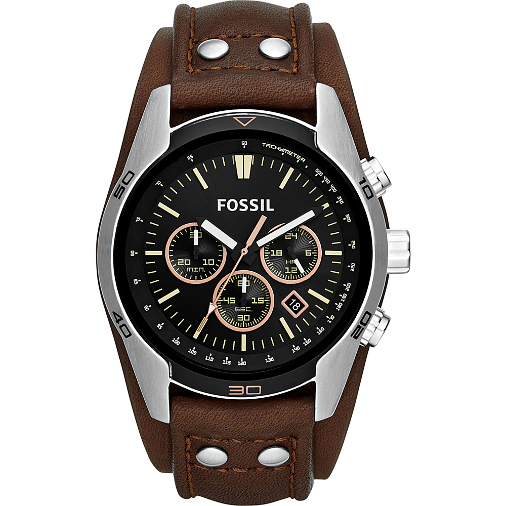 Fossil Coachman Chronograph Leather Watch Brown - Fossil Watches - Fashion Accessories, Watches