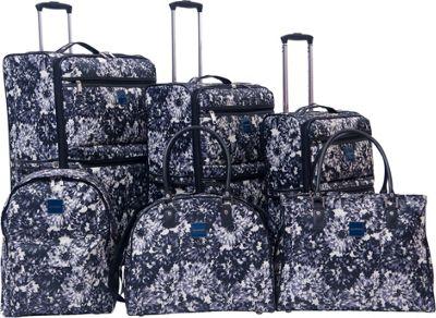 Isaac Mizrahi Bolden 6 Piece Luggage Set Black White - Isaac Mizrahi Luggage Sets