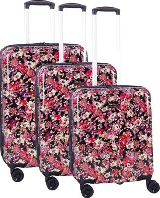 Isaac Mizrahi Harley 3 Piece Hardside Spinner Luggage Set Black - Isaac Mizrahi Luggage Sets