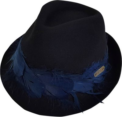 Hatch Hats Plume Fedora Hat One Size - Black - Hatch Hats Hats/Gloves/Scarves