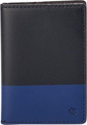 Hook & Albert Leather Vertical BiFold Brown/Blue - Hook & Albert Men's Wallets