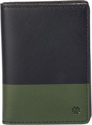 Hook & Albert Leather Vertical BiFold Brown/Olive - Hook & Albert Men's Wallets