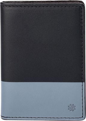 Hook & Albert Leather Vertical BiFold Black/Gray - Hook & Albert Men's Wallets