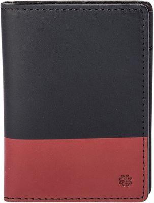 Hook & Albert Leather Vertical BiFold Black/Red - Hook & Albert Men's Wallets