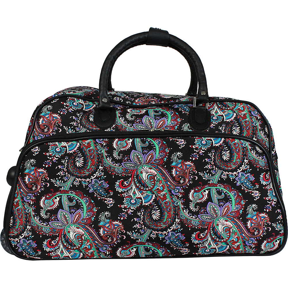 World Traveler Paisley 21 Carry-On Rolling Duffel Bag Paisley - World Traveler Travel Duffels - Duffels, Travel Duffels