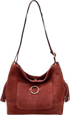 Vicenzo Leather Cammi Suede Leather Handbag Chestnut - Vicenzo Leather Leather Handbags