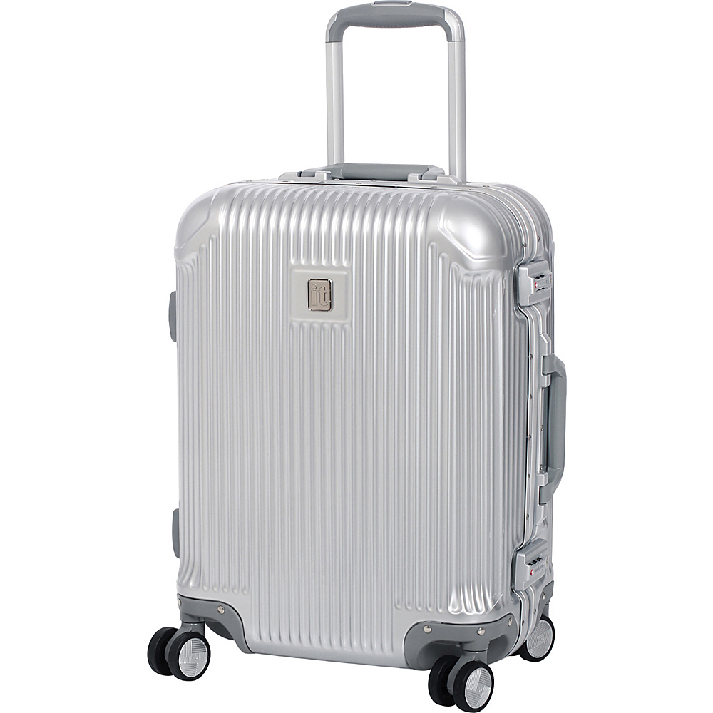 it luggage Crusader 20.7 Hardside Carry-On Spinner Luggage Silver - it luggage Hardside Carry-On