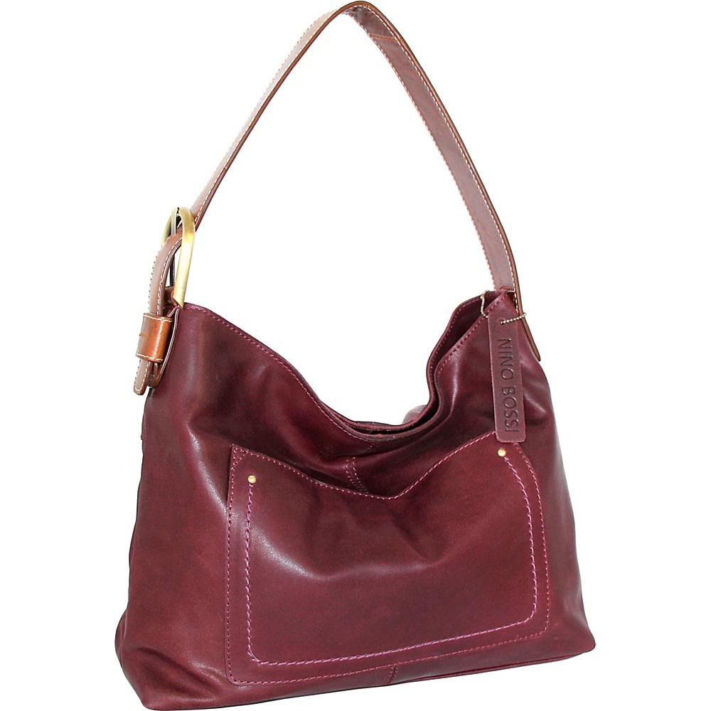 Nino Bossi Cayla Hobo Plum - Nino Bossi Leather Handbags - Handbags, Leather Handbags
