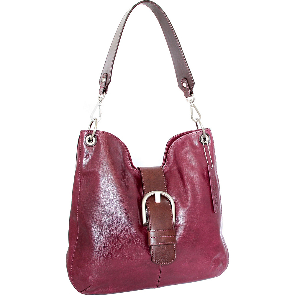 Nino Bossi Jacinta Shoulder Bag Plum - Nino Bossi Leather Handbags - Handbags, Leather Handbags