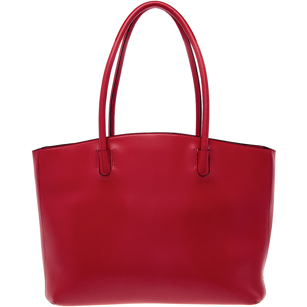 Lodis Audrey Milano Tote - Discontinued Colors Red - Lodis Leather Handbags