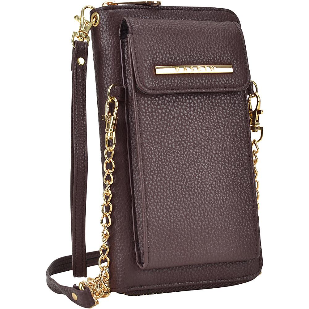 Dasein Fashion All-In-One Convertible Crossbody Coffee - Dasein Manmade Handbags - Handbags, Manmade Handbags