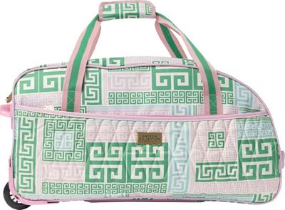 MacBeth PrepSet 21.5 inch Carry-On Rolling Duffel Bag Green/Pink - MacBeth Travel Duffels