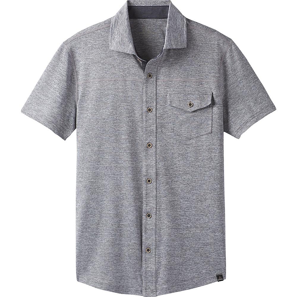 PrAna Stroud Short Sleeve Shirt S - Coal - PrAna Mens Apparel - Apparel & Footwear, Men's Apparel