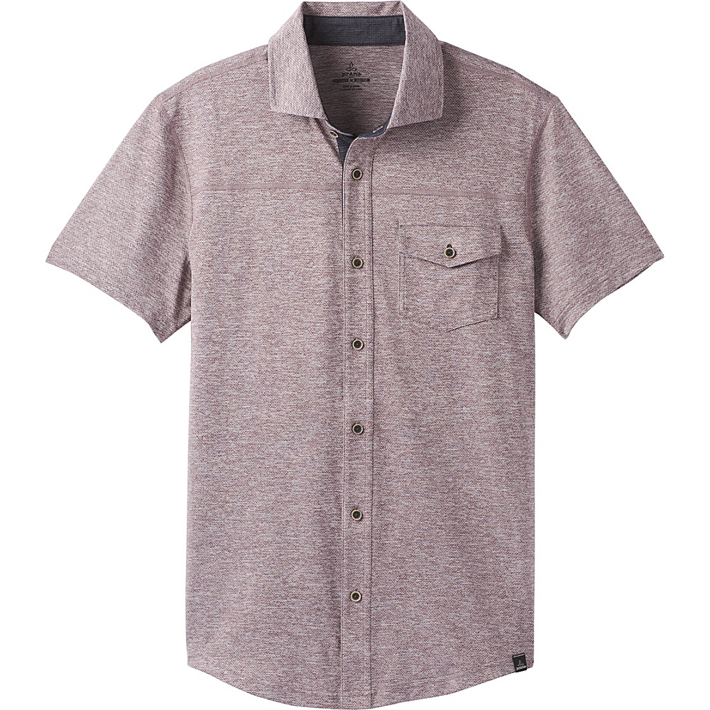 PrAna Stroud Short Sleeve Shirt M - Thistle - PrAna Mens Apparel - Apparel & Footwear, Men's Apparel
