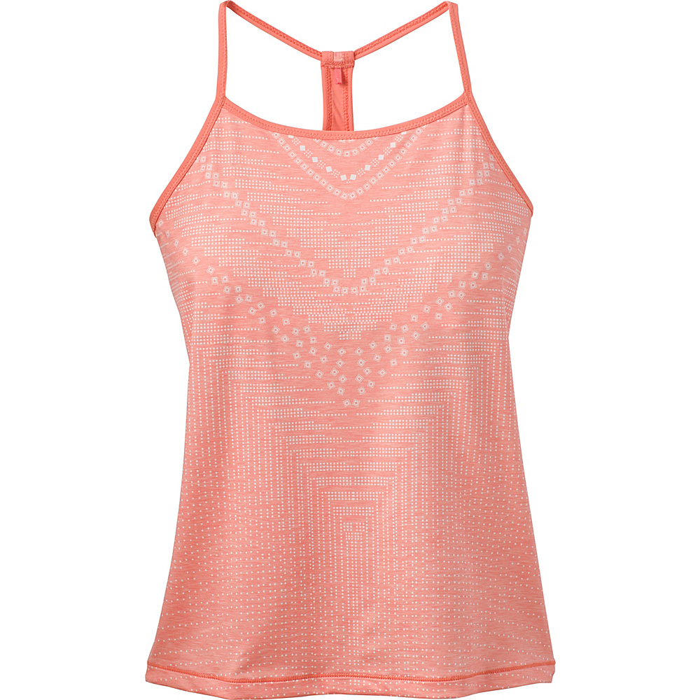 PrAna Small Miracle Cami S - Peach Synergy - PrAna Womens Apparel - Apparel & Footwear, Women's Apparel