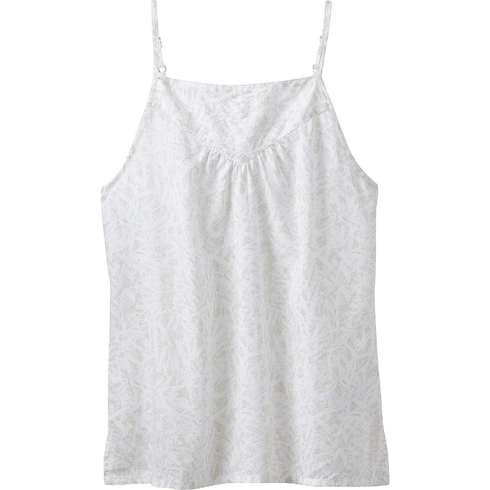 PrAna Zandra Top M - White Waimea - PrAna Womens Apparel - Apparel & Footwear, Women's Apparel
