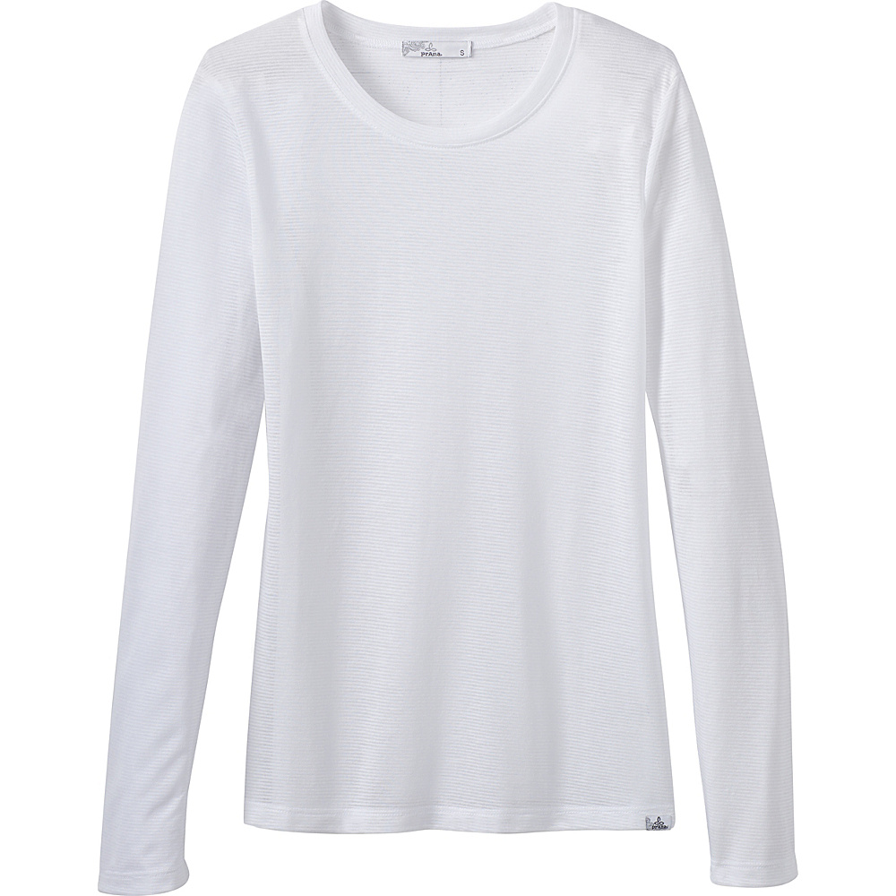 PrAna Francie Top L - White - PrAna Womens Apparel - Apparel & Footwear, Women's Apparel
