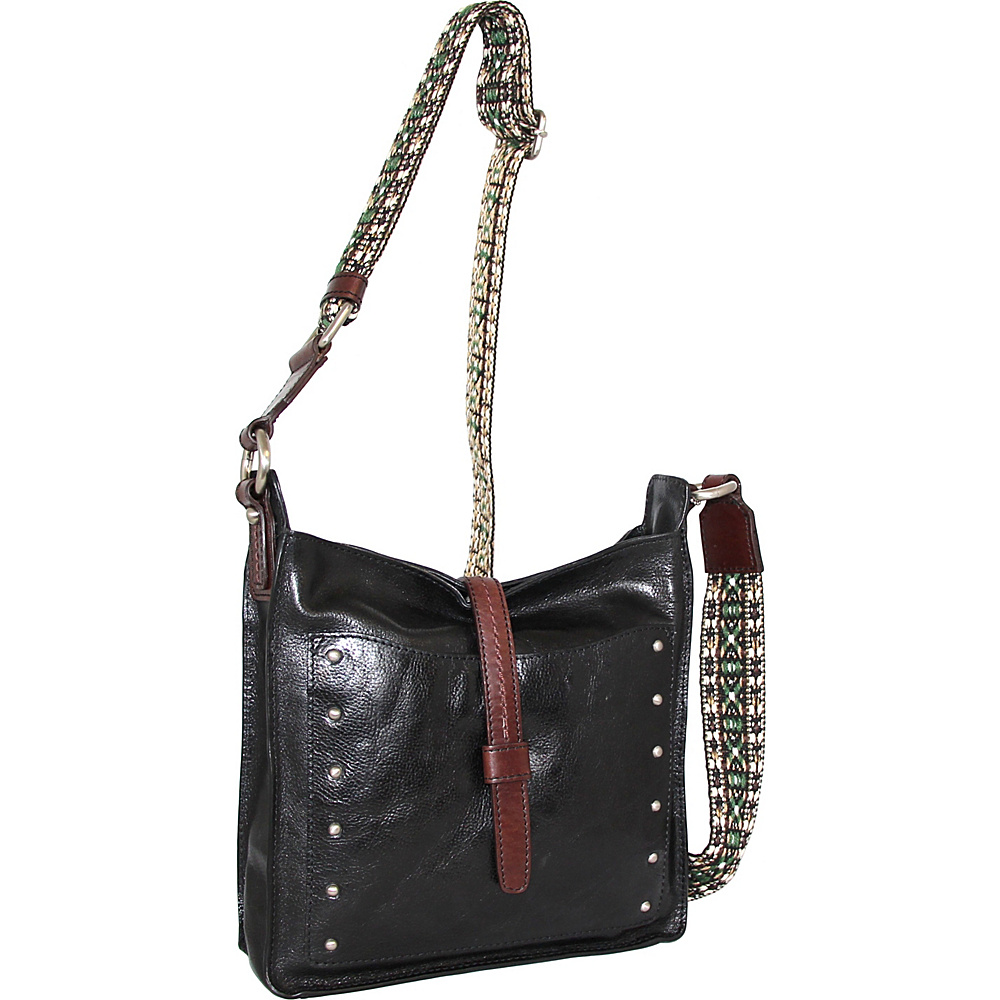 Nino Bossi Rockin Ruby Cross Body Black - Nino Bossi Leather Handbags - Handbags, Leather Handbags