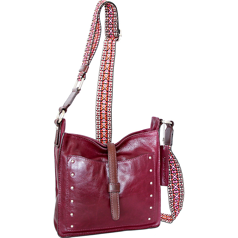 Nino Bossi Rockin Ruby Cross Body Plum - Nino Bossi Leather Handbags - Handbags, Leather Handbags