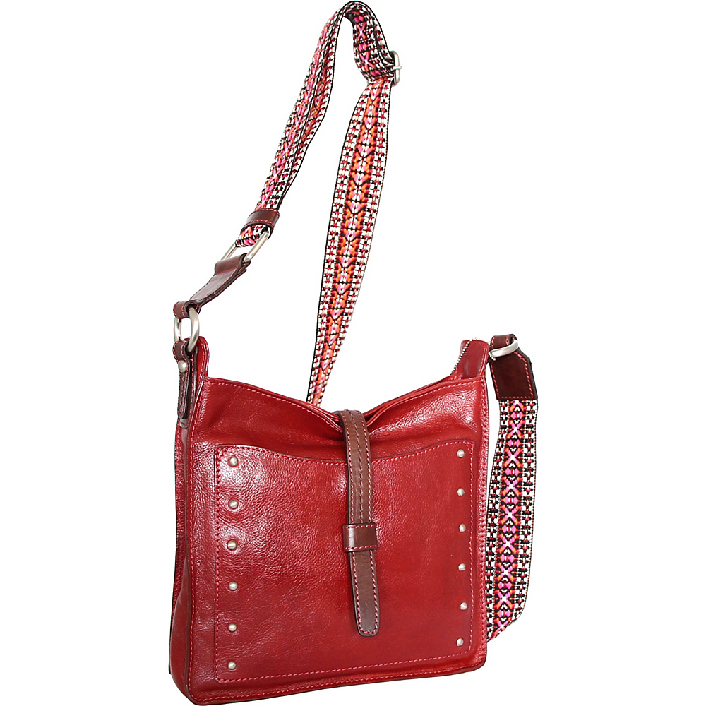 Nino Bossi Rockin Ruby Cross Body Red - Nino Bossi Leather Handbags - Handbags, Leather Handbags