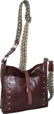 Nino Bossi Rockin Ruby Cross Body Walnut - Nino Bossi Leather Handbags