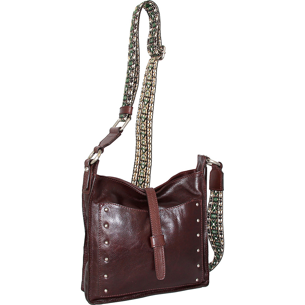 Nino Bossi Rockin Ruby Cross Body Walnut - Nino Bossi Leather Handbags - Handbags, Leather Handbags