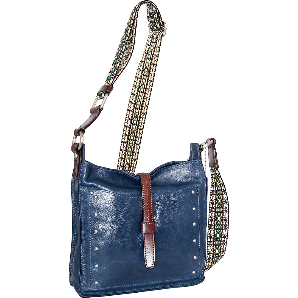 Nino Bossi Rockin Ruby Cross Body Blue - Nino Bossi Leather Handbags - Handbags, Leather Handbags