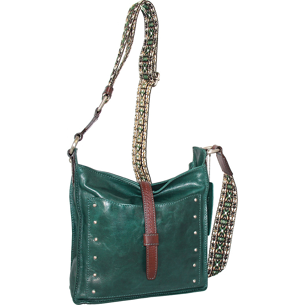 Nino Bossi Rockin Ruby Cross Body Green - Nino Bossi Leather Handbags - Handbags, Leather Handbags