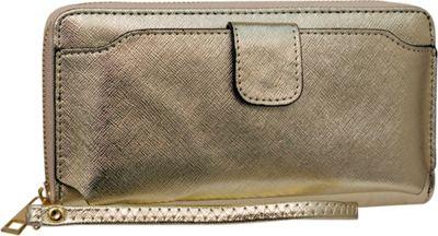 Rebecca & Rifka Single Zip Wristlet Wallet Gold - Rebecca & Rifka Women's Wallets